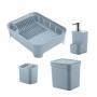 Kit Organizador Sobre a Pia 4 Peças Azul Glacial Trium - Ou