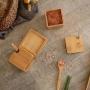 Porta Condimentos Duplo com Colher em Bambu - Yoi