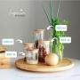 Pote de Vidro 300 ml com Tampa de Bambu Hermético Porta Condimentos