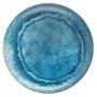 Prato Raso em MELAMINA Aqua Azul