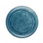 Prato Sobremesa em MELAMINA Aqua Azul