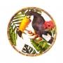 Prato Sobremesa em MELAMINA Bambu Pássaro