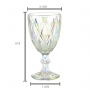 Taça para Água de vidro Diamond Rainbow Furta-Cor