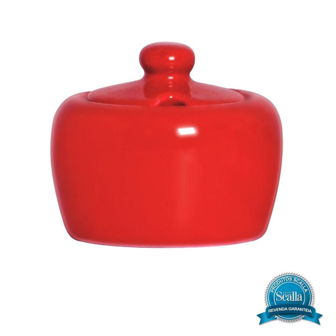 Açucareiro em Cerâmica 300 ml Standard Vermelho - Scalla