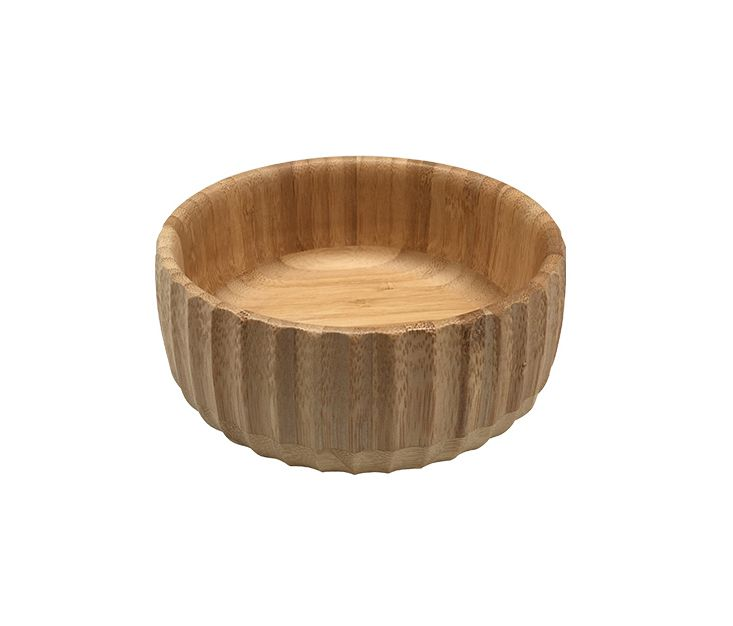 Bowl Canelado em Bambu Pequeno