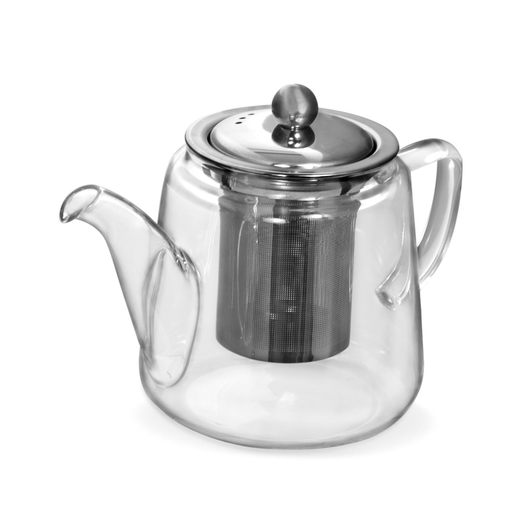 Bule de Chá Borossilicato com Infusor Inox