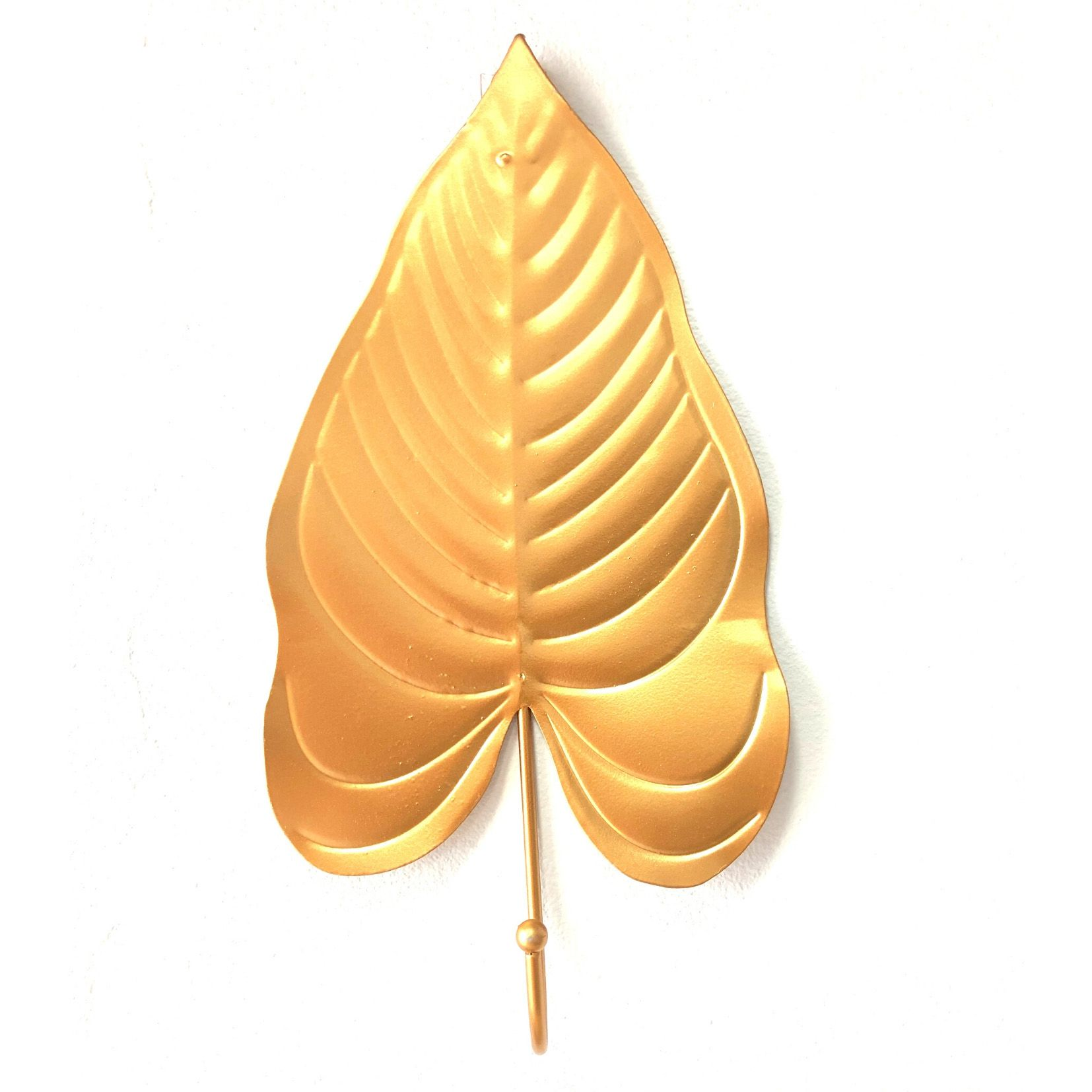 Cabideiro em Metal Dourado Folha Filodentro