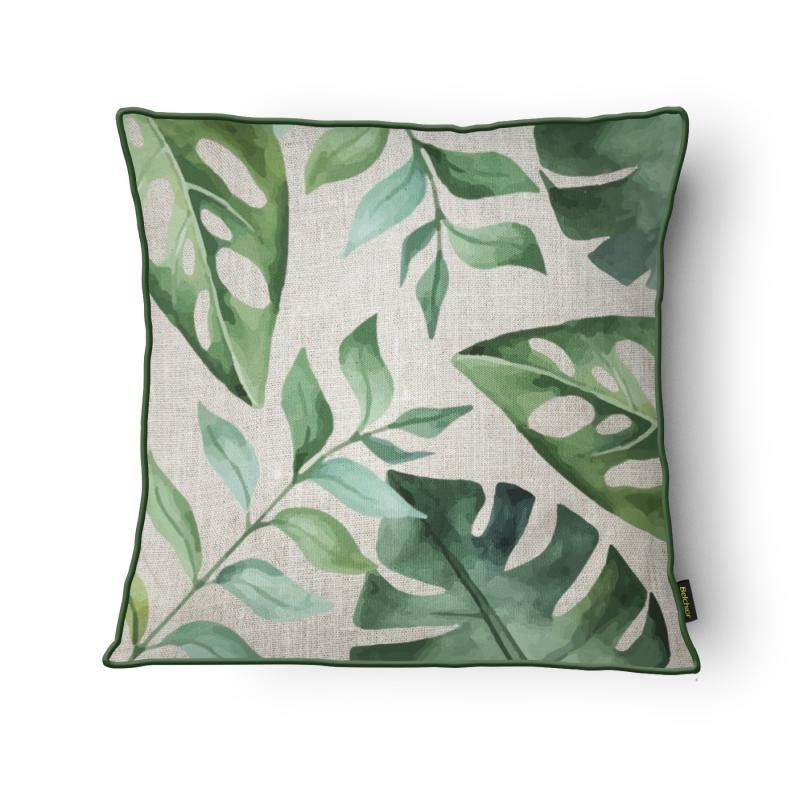 Capa para Almofada Botânica 43x43 cm Folhas - Belchior