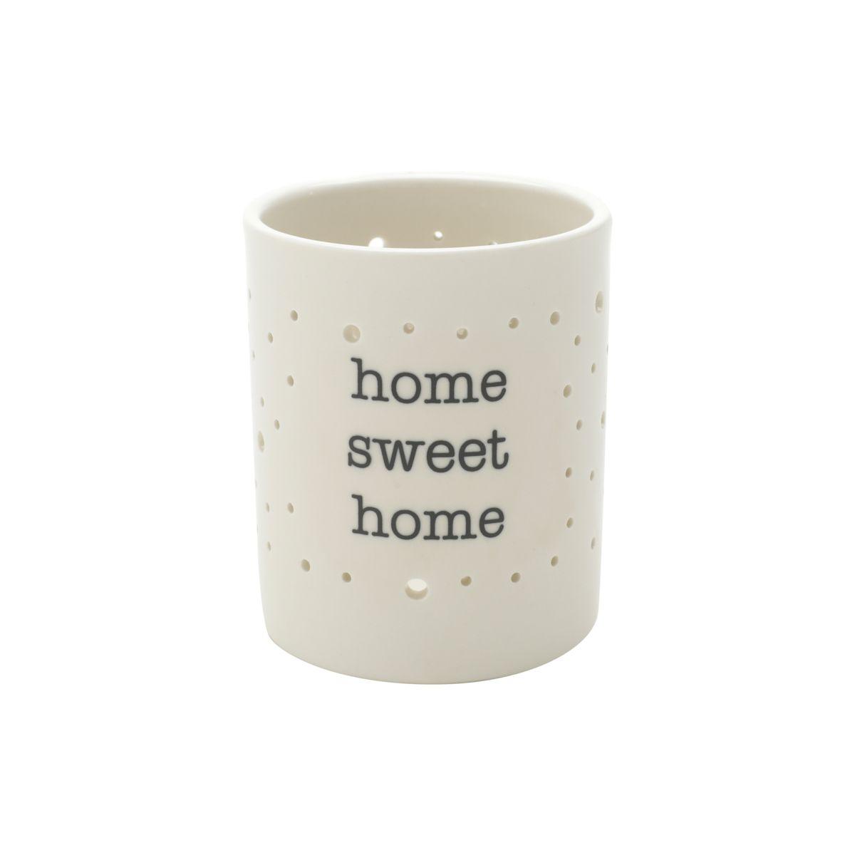 Castiçal em Porcelana Home Sweet Home
