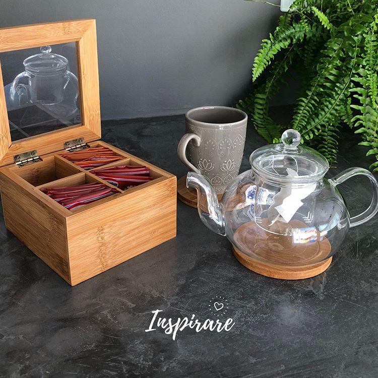 Chaleira em Vidro Resistente ao Calor c/ Infusor de Chá - Lyor