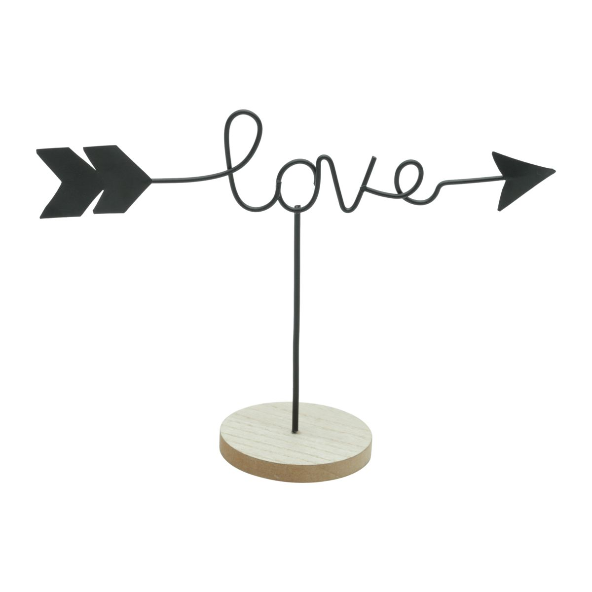 DECOR METAL/MADEIRA LOVE FLECHA PRETO URBAN