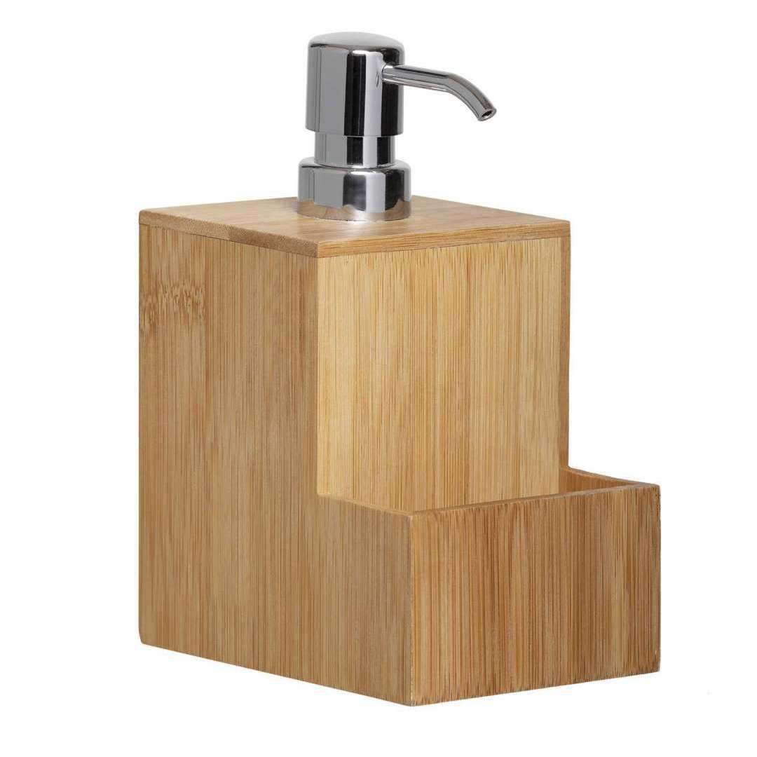 Dispenser para Detergente e Bucha em Bambu - Yoi