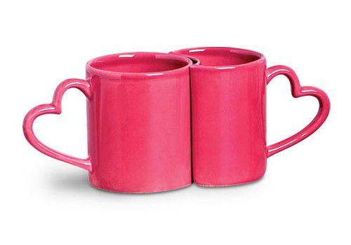 Jogo c/2 Canecas Love Coração Pink - Scalla