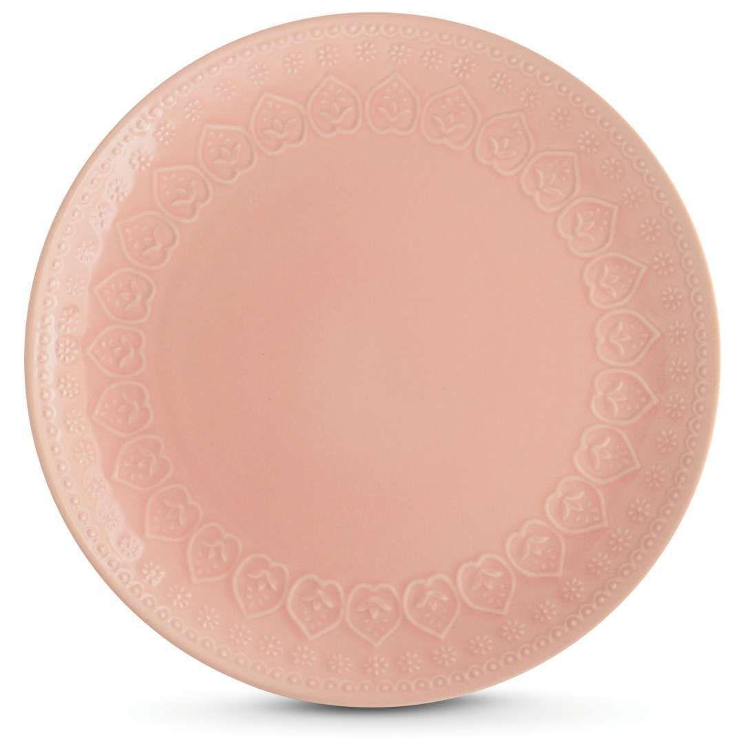 Jogo c/4 Pratos Rasos Corona Rosa