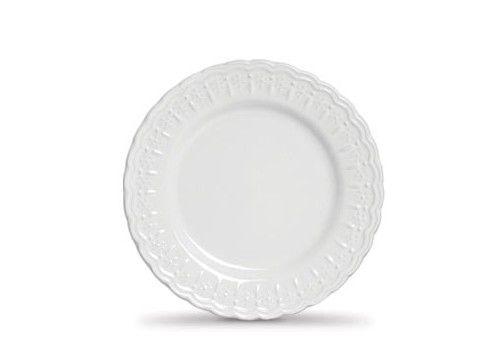 Jogo c/6 Pratos para Sobremesa Branco Nobre - Scalla