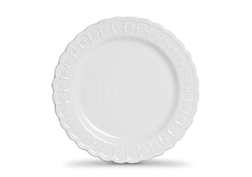 Jogo c/6 Pratos Rasos Branco Nobre - Scalla