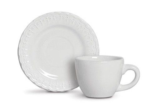 Jogo c/6 Xícaras de Cafezinho Nobre Branco - Scalla