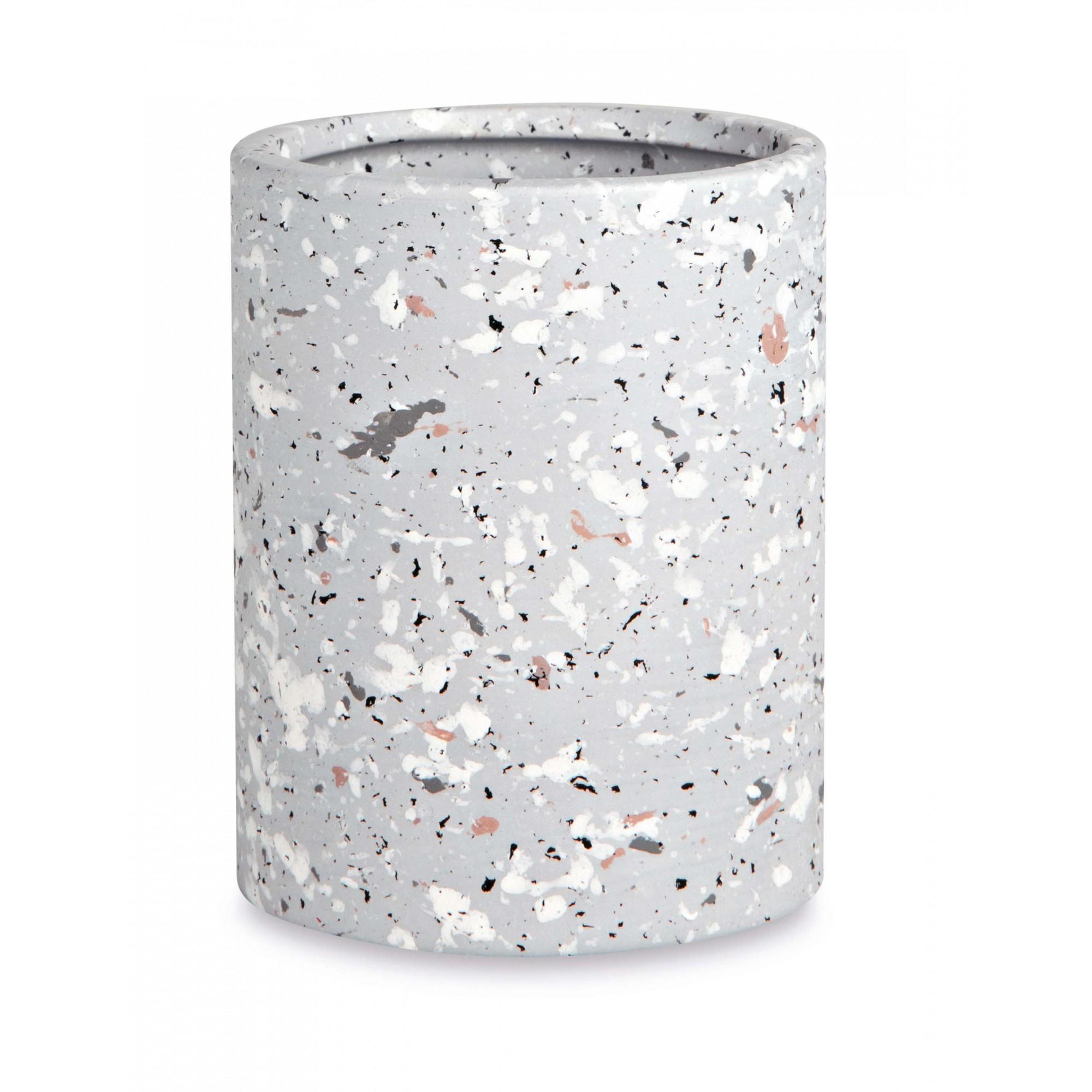 Kit Banheiro 2 peças Granelite Cinza