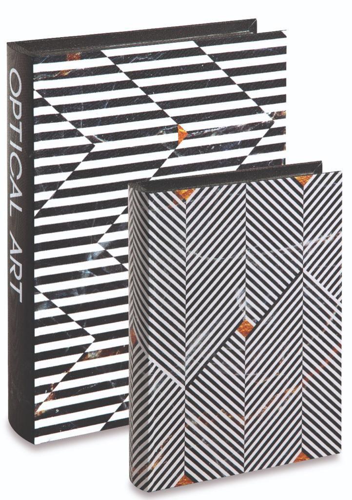 Kit c/2 Livros Caixa Listras e Chevron