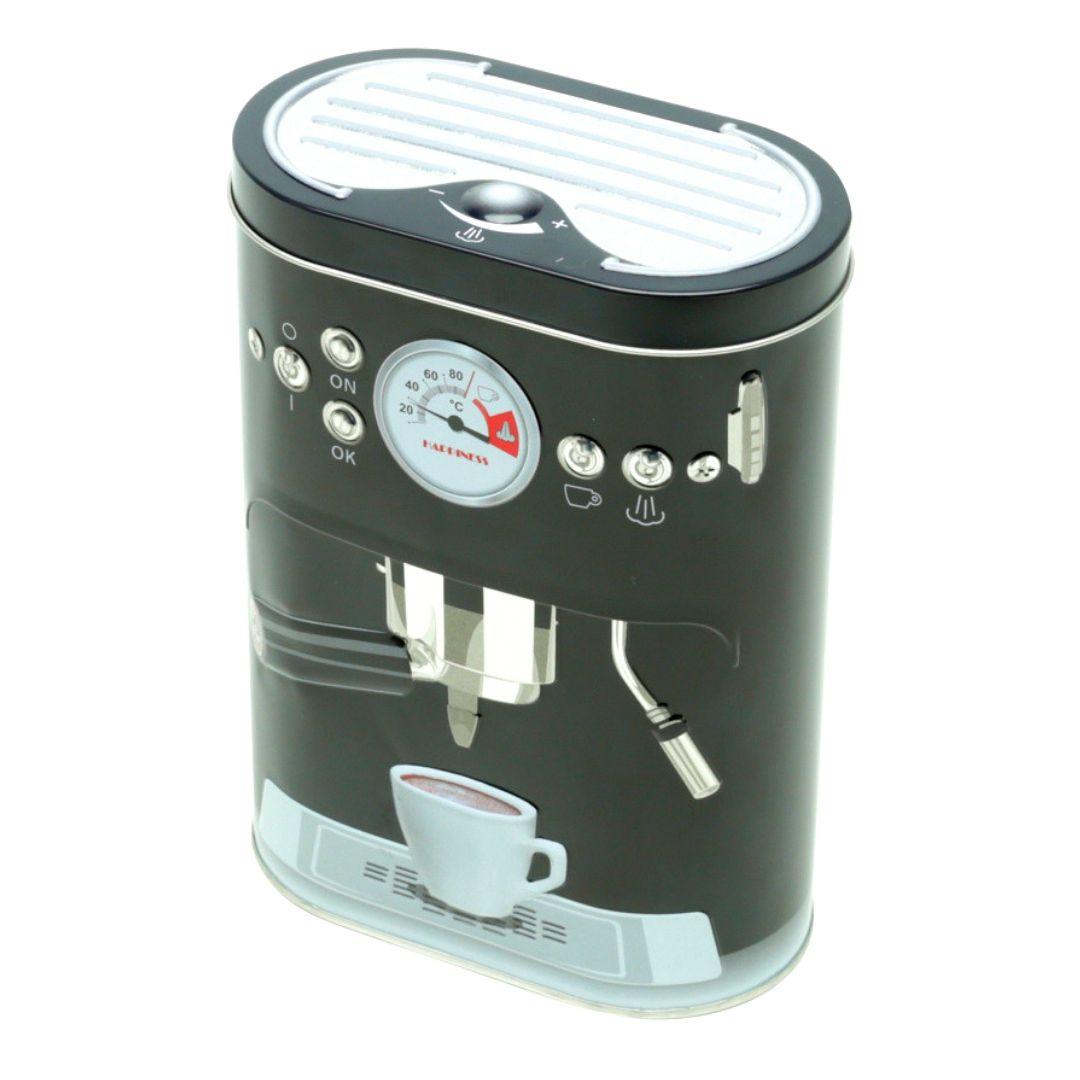 LATA EM METAL COFFE MACHINE PRETA - URBAN