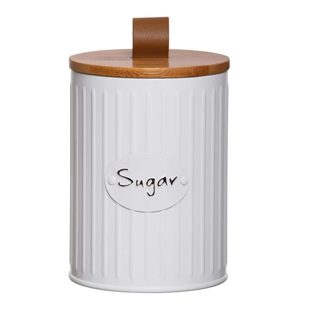 Lata Porta Mantimentos Lisse Tampa Bambu Sugar - YOI