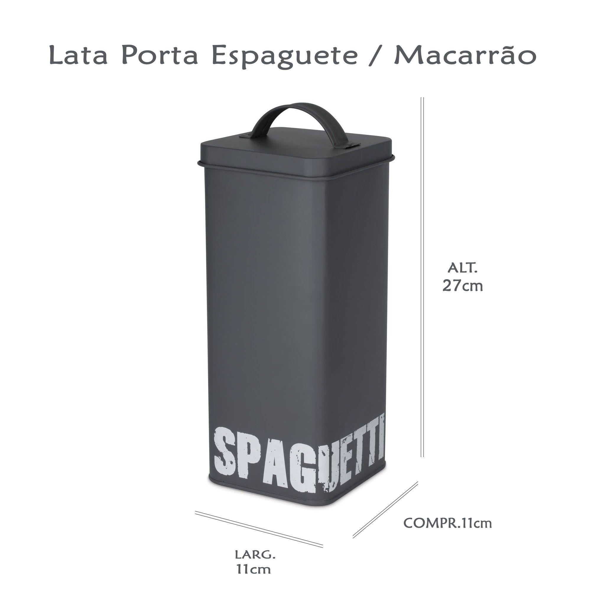 Lata Pota Espaguete Cinza