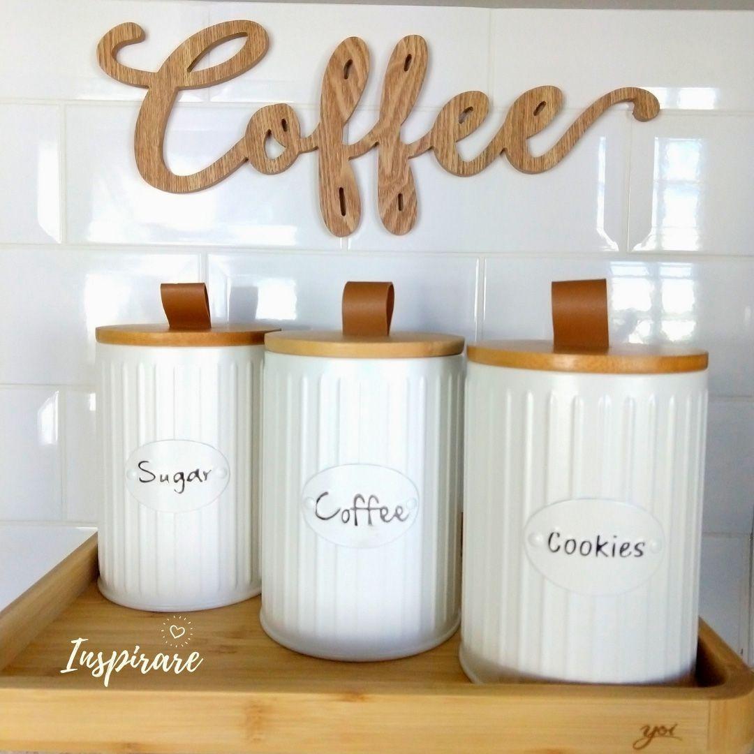 Palavra Decorativa em Madeira Coffee - Urban