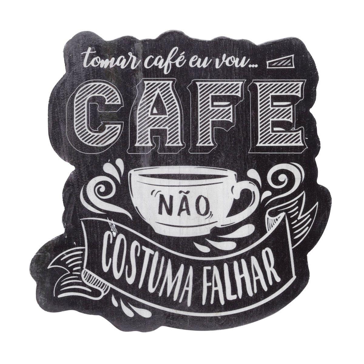 Placa Madeira Expresso Coffee