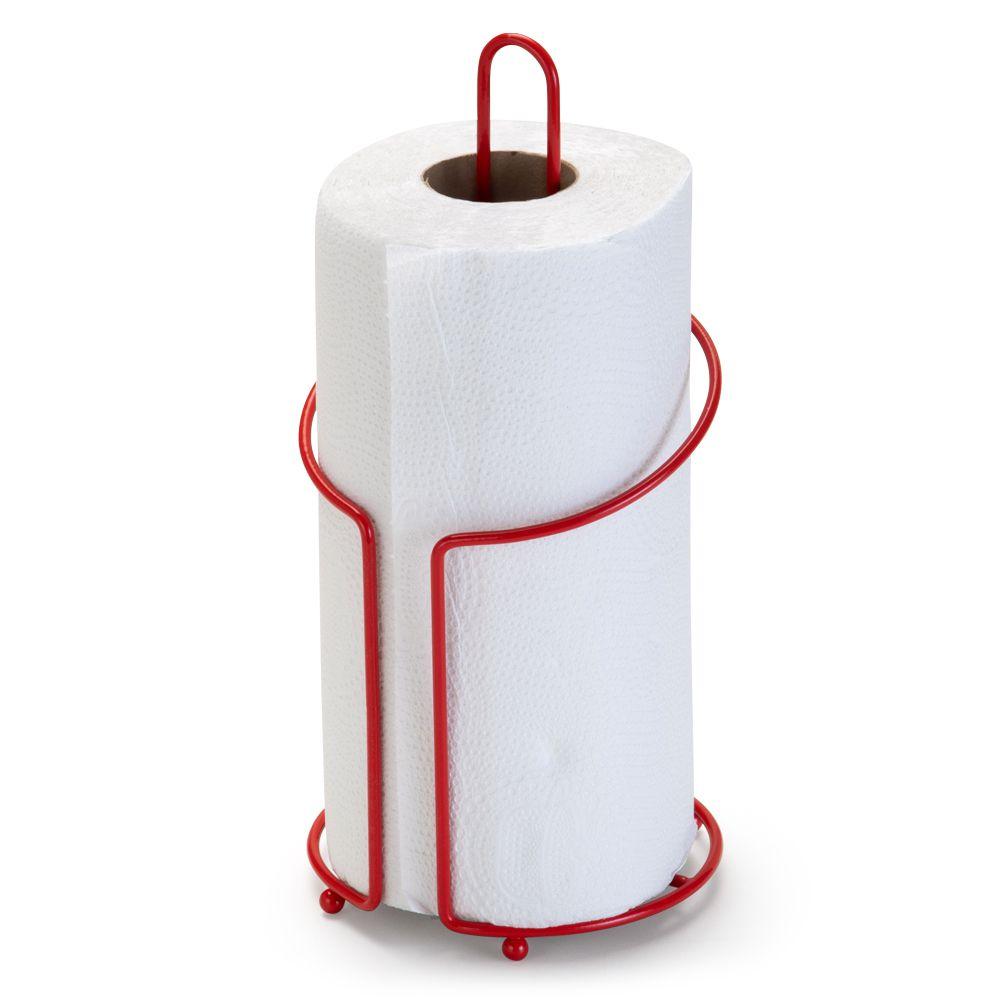 Porta Rolo de Papel Toalha Vermelho