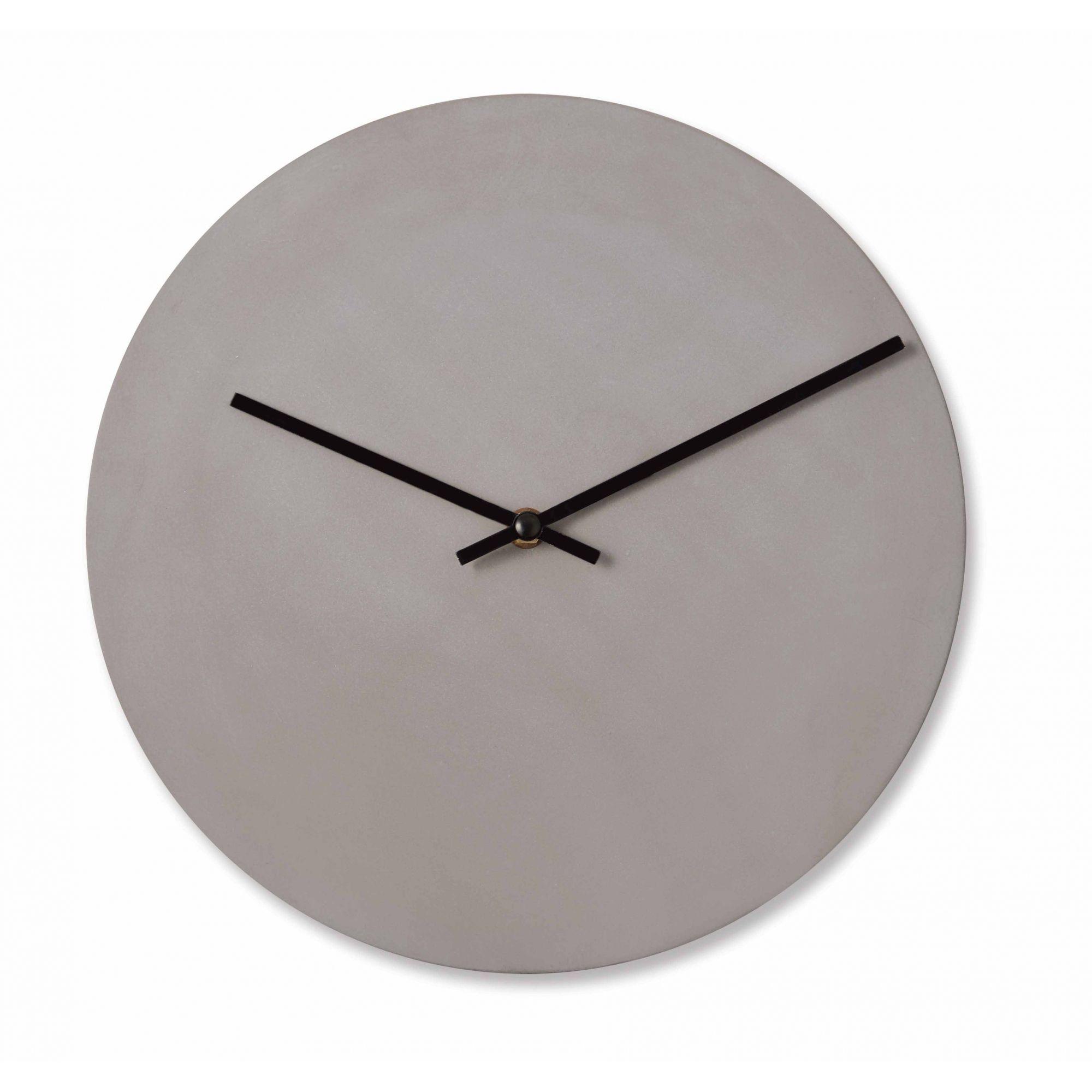 Relógio de Parede em Cimento  Cinza