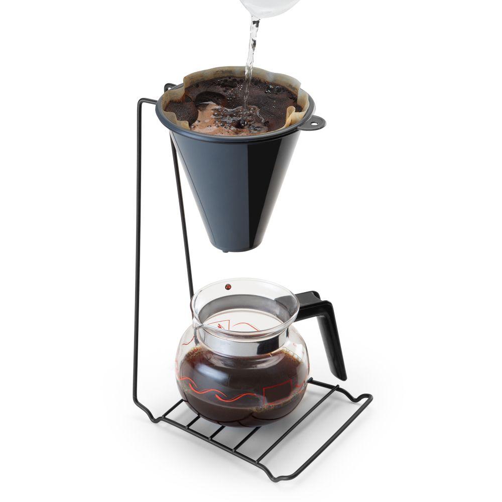Suporte com Coador de Café Preto