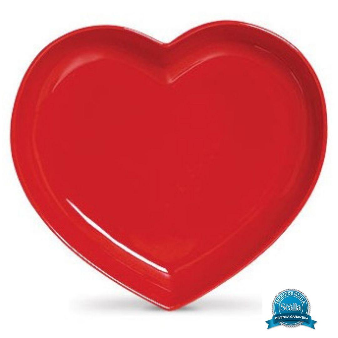 Travessa Coração Funny Vermelha - Scalla