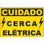 Placa de Alerta para Cerca Eletrica ECP