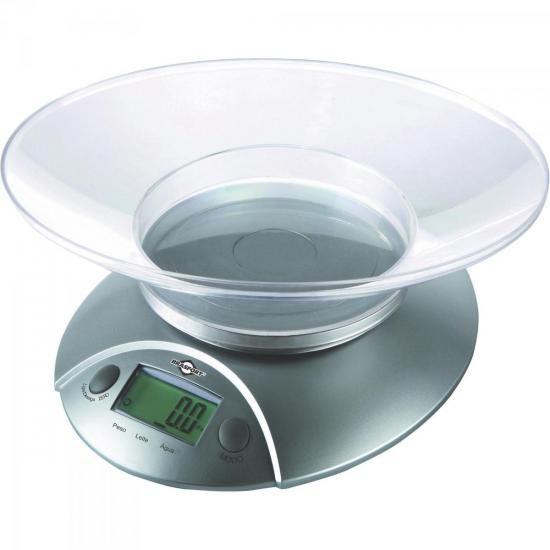 Balanca de Cozinha Digital 5KG Cinza Brasfort