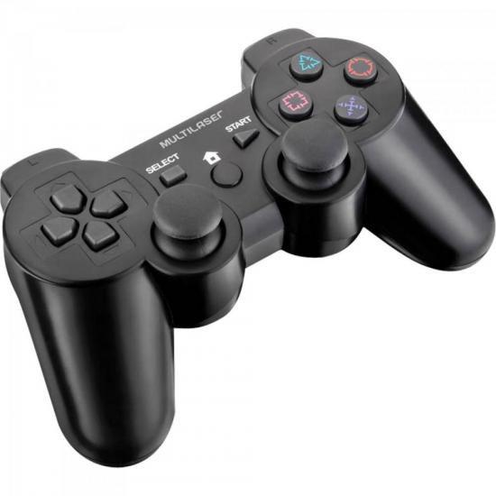 Controle 3 em 1 S/ Fio PS2/PS3/PC JS072 Preto Multilaser