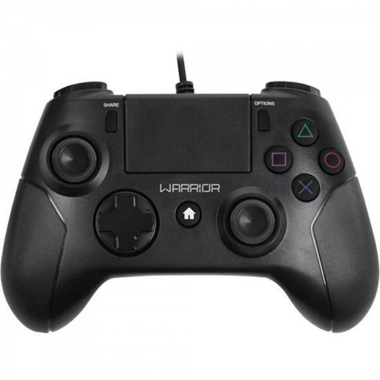 Controle Warrior Gamer P/ PS3/ PS4/ PC JS083 Preto Multilaser