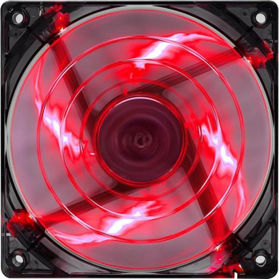 Cooler FAN 14CM SHARK Devil RED Edition LED EN55475 Vermelho Aerocool
