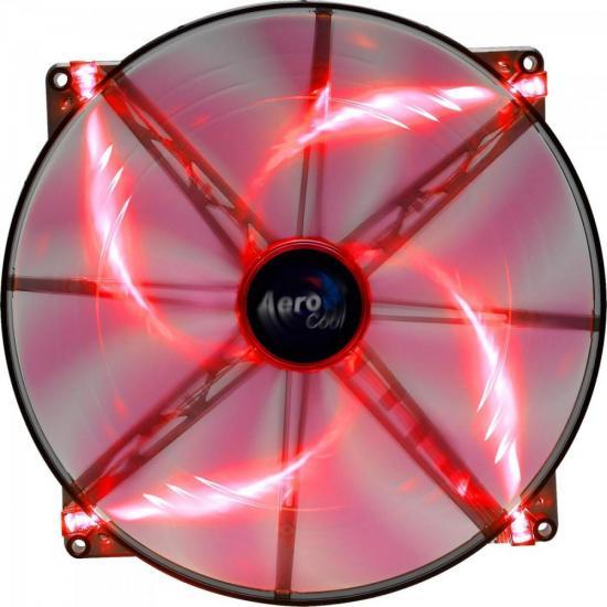 Cooler FAN 20CM Silent Master LED EN55659 Vermelho Aerocool
