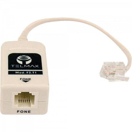 Filtro Modem ADSL 1 Saida F2-T1 Branco Telmax