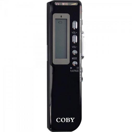 Gravador Digital de VOZ, Telefonico e MP3 Player CVR20 Preto COBY