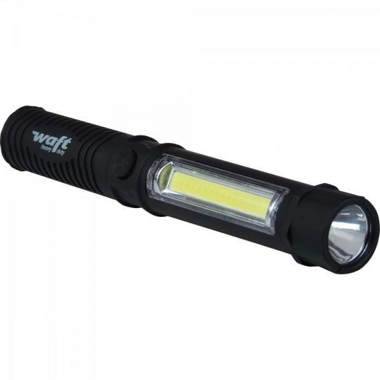 Lanterna Caneta LED Double Preta WAFT