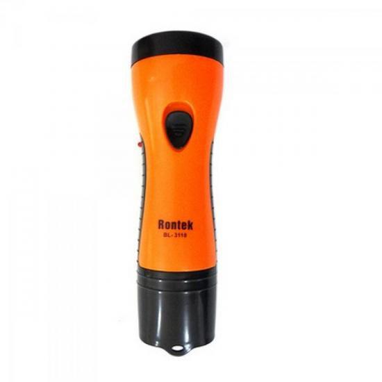 Lanterna Recarregavel com 5 LEDS Bivolt PRETO/LARANJA 33026 Generico