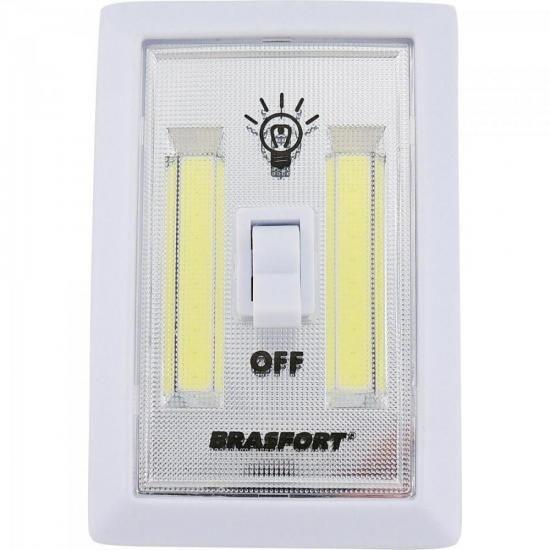 Luminaria LED Tipo Interruptor Branco Brasfort