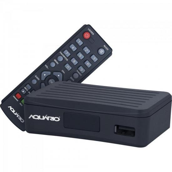 Mini Conversor e Gravador Digital DTV-4000 Preto Aquario
