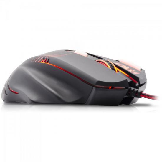 Mouse Gamer Spider Venom OM-704 PRETO/VERMELHO Fortrek