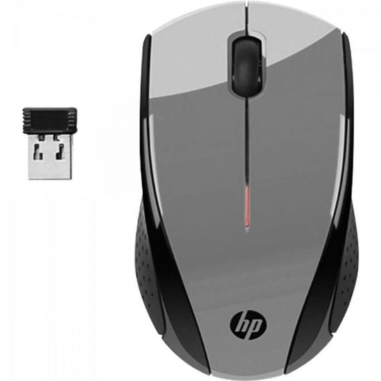 Mouse sem Fio USB 1600 DPI X3000 Cinza HP
