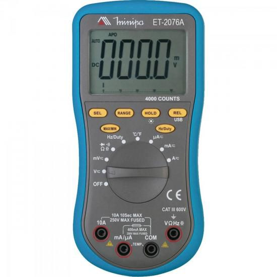 Multimetro Digital ET-2076A Minipa