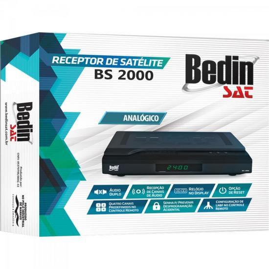 Receptor Analogico BS2000 Preto Bedinsat