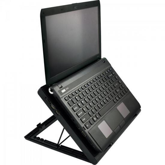 Suporte Para Notebook Com 2 Cooler AC267 Preto Multlaser
