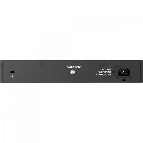 Switch FAST 24 Portas 100MBPS DES-1024D Preto D-LINK